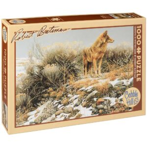 Пъзел Cobble Hill от 1000 части - Койот в зимната пустош, Робърт Бейтмън - Пъзели