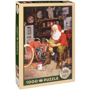 Пъзел Cobble Hill от 1000 части - Летящата машина на Дядо Коледа, Том Нюсъм - Пъзели