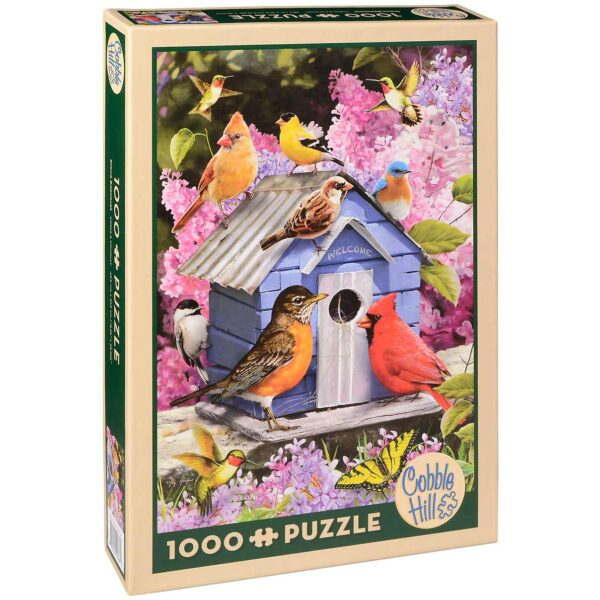 Пъзел Cobble Hill от 1000 части - Пролетна къщичка за птици - Пъзели