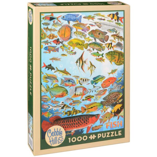 Пъзел Cobble Hill от 1000 части - Тропически риби, Флик Форд - Пъзели