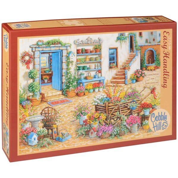 Пъзел Cobble Hill от 275 части - Изискан магазин за цветя, Жанет Кръскемп - Пъзели