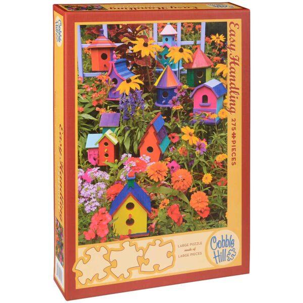 Пъзел Cobble Hill от 275 части - Къщички за птички, Дарел Гълин - Пъзели