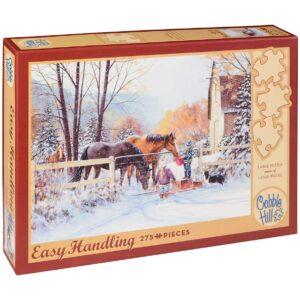 Пъзел Cobble Hill от 275 части - Първи сняг, Дъглас Лейрд - Пъзели