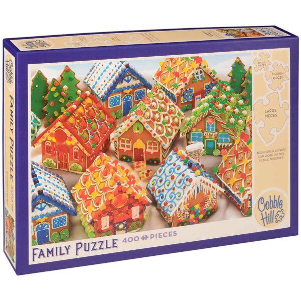 Пъзел Cobble Hill от 400 части - Джинджифилови къщички - Пъзели