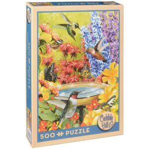 Пъзел Cobble Hill от 500 части - Градината на колибритата - Пъзели