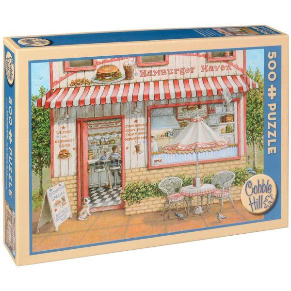 Пъзел Cobble Hill от 500 части - Раят на хамбургерите, Жанет Кръскемп - Пъзели