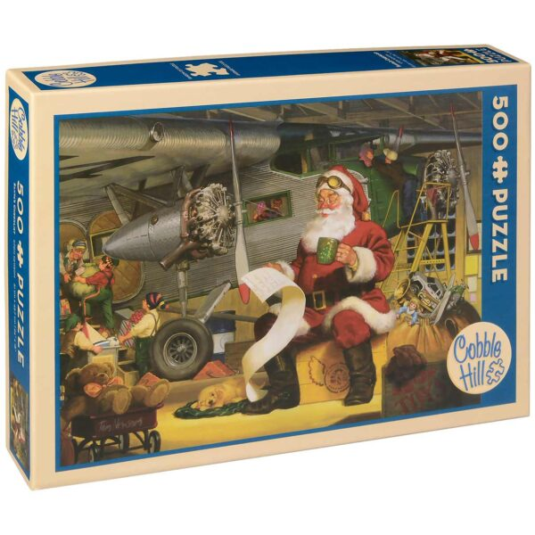 Пъзел Cobble Hill от 500 части - Списъкът на Дядо Коледа, Том Нюсъм - Пъзели