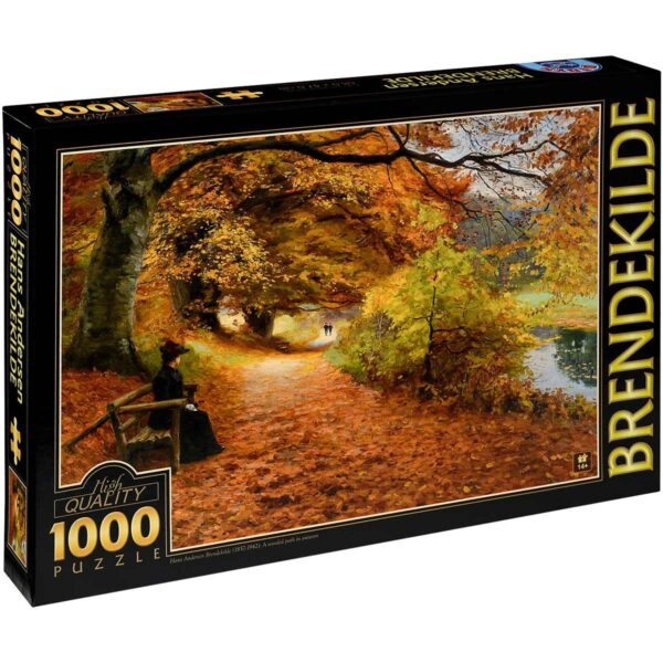 Пъзел D-Toys от 1000 части – Алея сред есенни дървета, Ханс Андерсен Брендекилд - Пъзели
