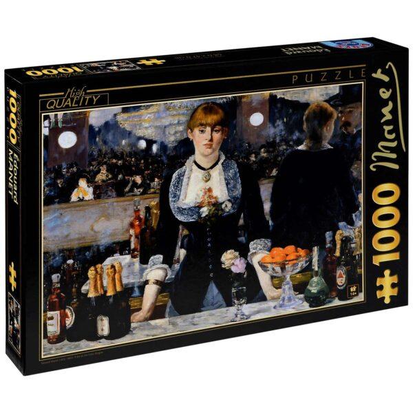 Пъзел D-Toys от 1000 части - Барът на Фоли Бержер, Едуар Мане - Пъзели