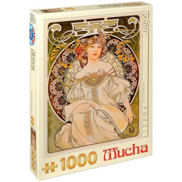 Пъзел D-Toys от 1000 части – Блян, Алфонс Муха - Пъзели