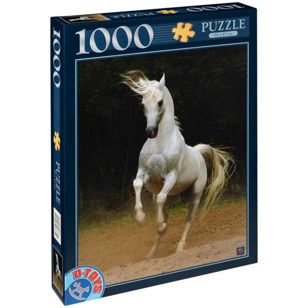 Пъзел D-Toys от 1000 части - Буйният кон, Войтек Квятковски - Пъзели