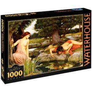 Пъзел D-Toys от 1000 части – Ехо и Нарцис, Джон Уилям Уотърхаус - Пъзели