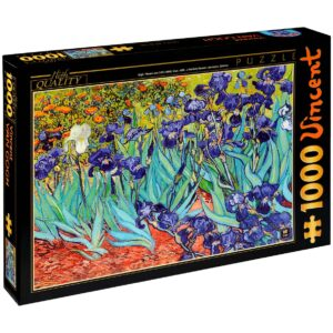 Пъзел D-Toys от 1000 части – Ириси, Винсент ван Гог - Пъзели