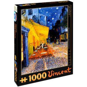 Пъзел D-Toys от 1000 части – Кафе тераса през нощта, Винсент ван Гог - Пъзели