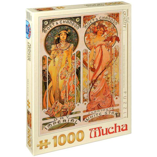 Пъзел D-Toys от 1000 части – Moët & Chandon White Star, Алфонс Муха - Пъзели