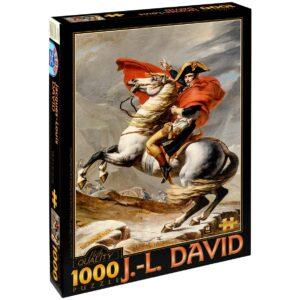 Пъзел D-Toys от 1000 части – Наполеон на прохода Сан Бернар, Жак-Луи Давид - Пъзели