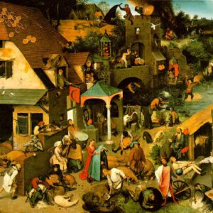 Пъзел D-Toys от 1000 части – Нидерландски пословици, Питер Брьогел Стари - Пъзели