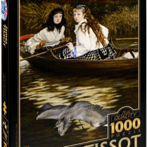 Пъзел D-Toys от 1000 части – По Темза, Чапла, Джеймс Тисо - Пъзели