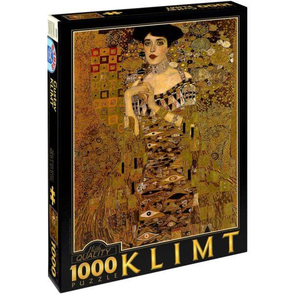 Пъзел D-Toys от 1000 части – Портрет на Адел Блох-Бауер I, Густав Климт - Пъзели