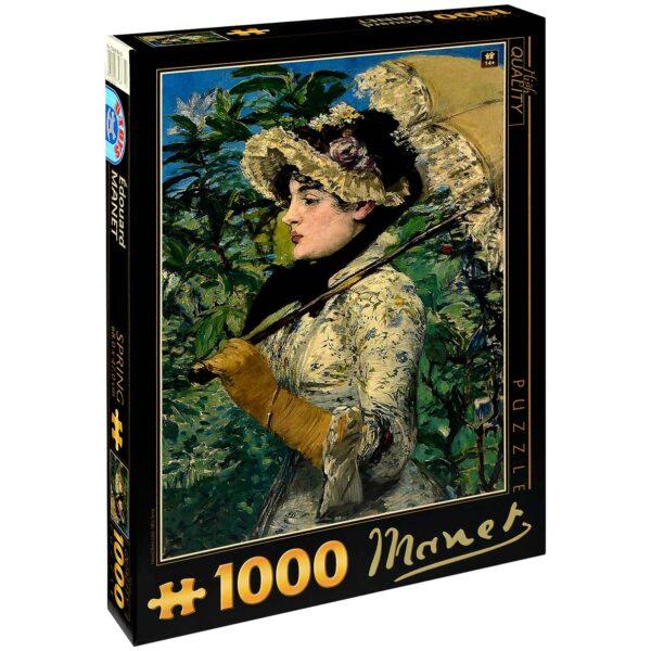 Пъзел D-Toys от 1000 части – Пролет, Едуар Мане - Пъзели