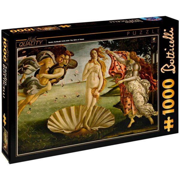 Пъзел D-Toys от 1000 части – Раждането на Венера, Сандро Ботичели - Пъзели