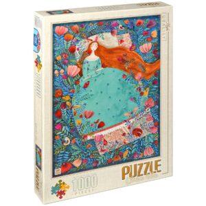 Пъзел D-Toys от 1000 части – Спящата красавица, Андреа Кюрти - Пъзели