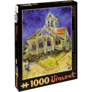 Пъзел D-Toys от 1000 части - Църквата в Овер, Винсент ван Гог - Пъзели