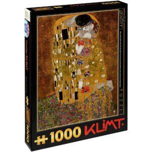 Пъзел D-Toys от 1000 части – Целувката, Густав Климт - Пъзели