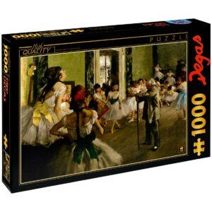 Пъзел D-Toys от 1000 части – Урок по танци, Едгар Дега - Пъзели