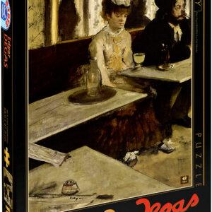 Пъзел D-Toys от 1000 части - В кафенето (Пиячи на абсент), Едгар Дега - Пъзели
