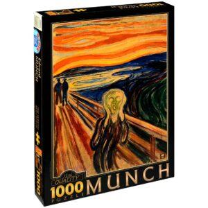 Пъзел D-Toys от 1000 части – Викът, Едвард Мунк - Пъзели