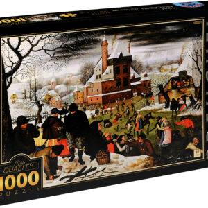 Пъзел D-Toys от 1000 части – Зима, Питер Брьогел Млади - Пъзели