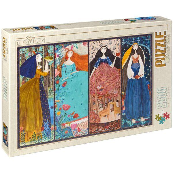 Пъзел D-Toys от 2000 части – Колаж, Андреа Кюрти - Пъзели