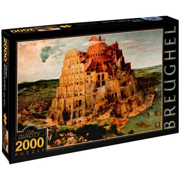 Пъзел D-Toys от 2000 части – Вавилонската кула, Питер Брьогел Стария - Пъзели