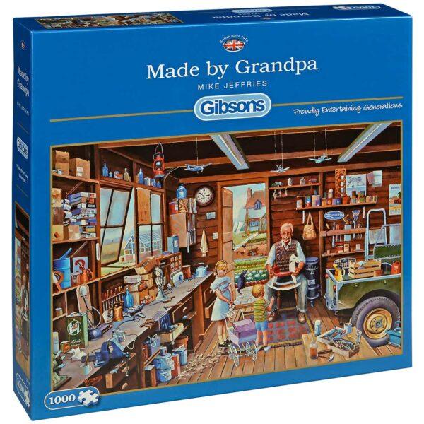 Пъзел Gibsons от 1000 части – Направено от дядо, Майк Джефрис - Пъзели