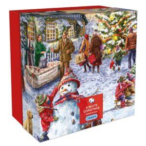 Пъзел Gibsons от 500 части - Бяла Коледа, Марчело Корти - Пъзели