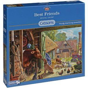 Пъзел Gibsons от 500 части – Най-добри приятели, Сара Адамс - Пъзели