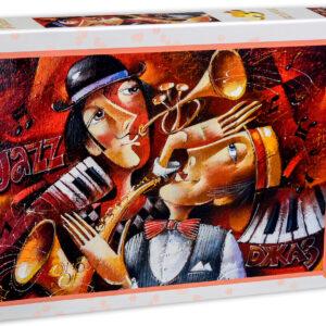 Пъзел Gold Puzzle от 1000 части - Джаз дует - Пъзели