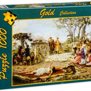 Пъзел Gold Puzzle от 1000 части - Укротителят на лъва - Пъзели