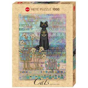 Пъзел Heye от 1000 части - Египетска котка, Джейн Краутър - Котки - Пъзели