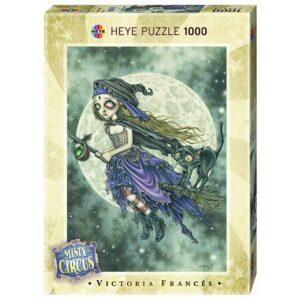 Пъзел Heye от 1000 части - Летяща метла, серия Мистичния цирк, Виктория Франсес - Пъзели