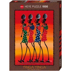 Пъзел Heye от 1000 части - Носене на вода, Тинга Тинга - Пъзели