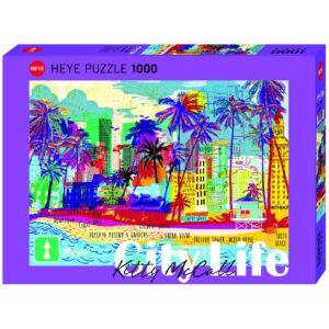 Пъзел Heye от 1000 части - Обичам Маями!, Кити Маккол - Пъзели