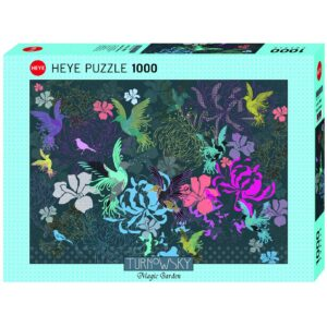 Пъзел Heye от 1000 части - Птици и цветя, Търновски - Пъзели