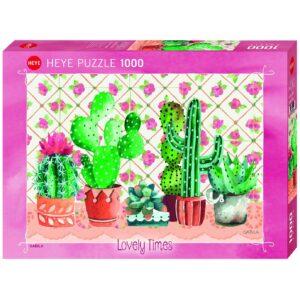 Пъзел Heye от 1000 части - Семейство кактуси, Габила - Пъзели