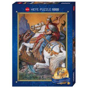 Пъзел Heye от 1000 части - Свети Георги Победоносец, Картини от Нойшванщайн - Пъзели
