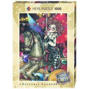 Пъзел Heye от 1000 части - Въртележка, серия Мистичния цирк, Виктория Франсес - Пъзели