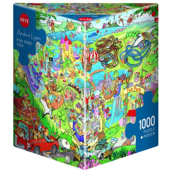 Пъзел Heye от 1000 части - Забавно пътуване в парка, Андерс Лион - Пъзели