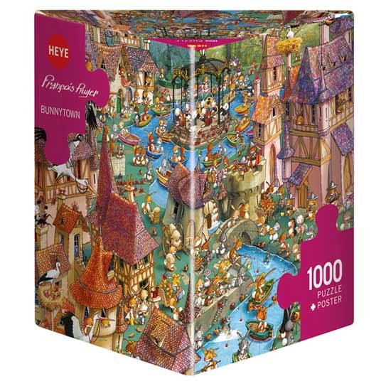 Пъзел Heye от 1000 части - Заешки град, Франсоа Рюер - Пъзели
