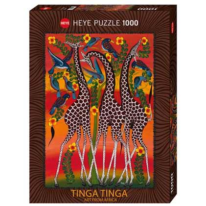 Пъзел Heye от 1000 части - Жирафи, Тинга Тинга - Пъзели